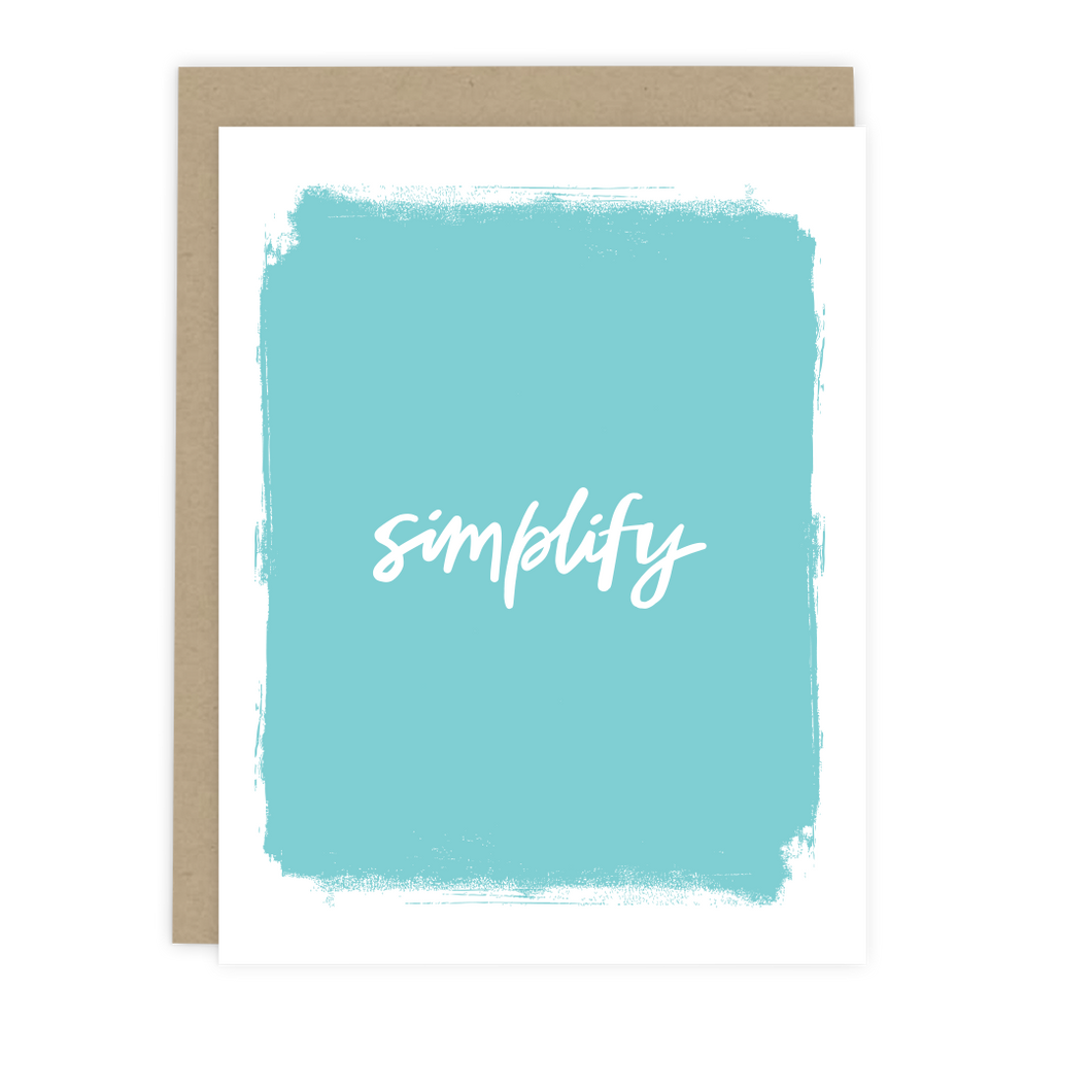 Simplify Note Card
