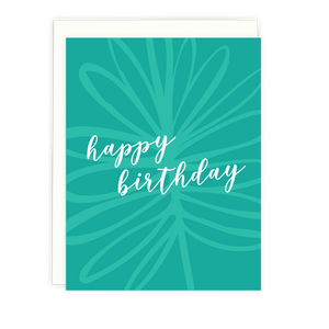 Palm Script Birthday Card