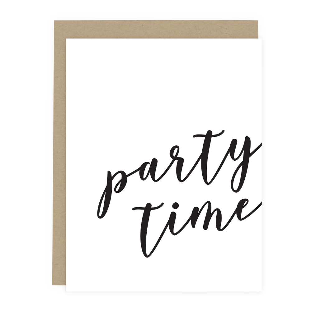 Party Time Script Card
