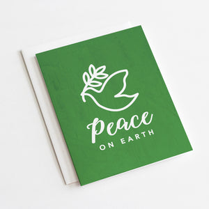 Peace on Earth Holiday Card | Holiday Greeting Cards by 7th & Palm