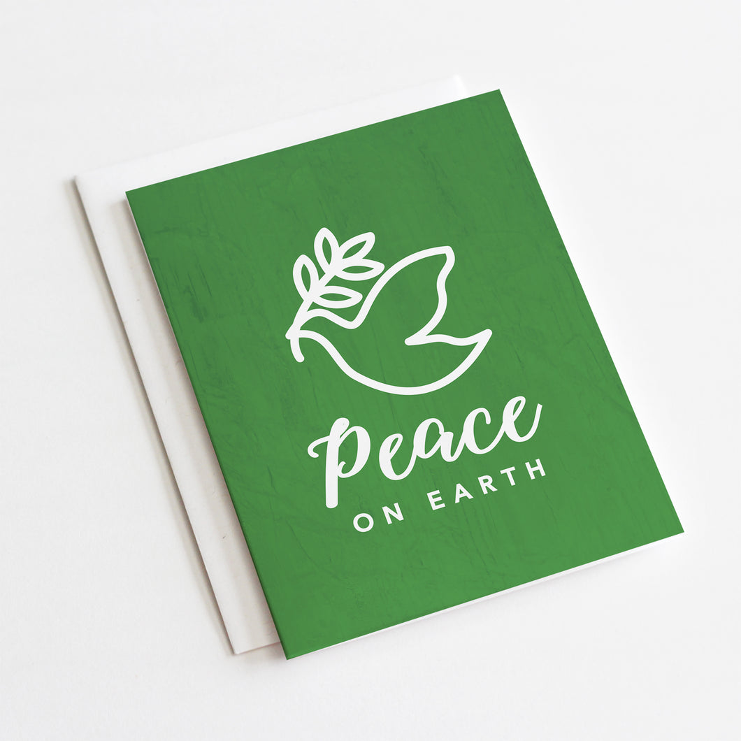 Peace on Earth Holiday Card - Holiday Greeting Cards by 7th & Palm