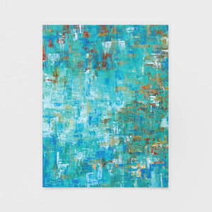 """Modern Madras"" Abstract Note Card - Abstract Art Cards by Andrea Smith"