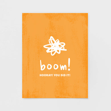 Boom! Congrats Note Card | Luxe Stationery by 7th & Palm
