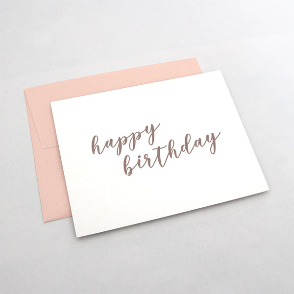 Rose Gold Script Birthday Card from 7th & Palm