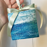 Ocean Canvas Ornament - Coastal Home Decor by 7th & Palm