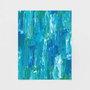"""Ocean Deep"" Abstract Note Card - Abstract Art Cards by Andrea Smith"