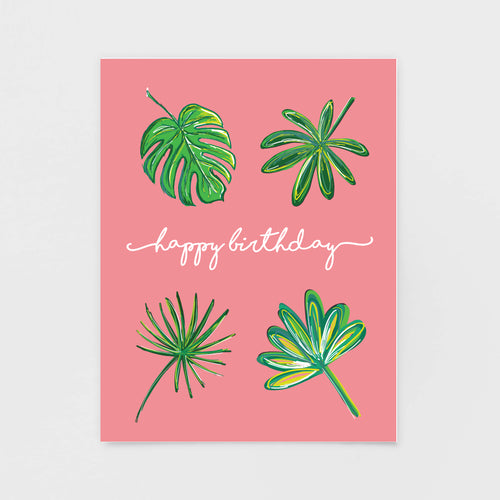 Pink Palms Birthday Card by 7th & Palm