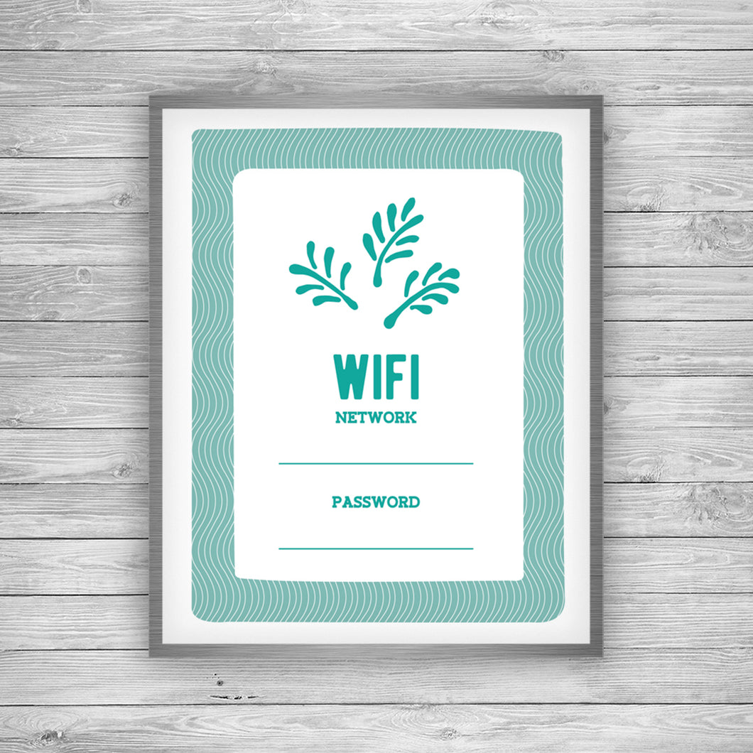 Palmetto WIFI Password Printable - Free Digital Download by 7th & Palm
