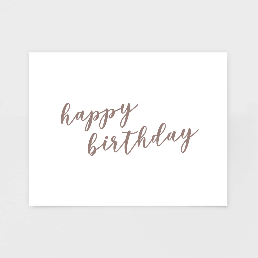 Load Image Into Gallery Viewer Rose Gold Script Birthday Card From 7th Amp