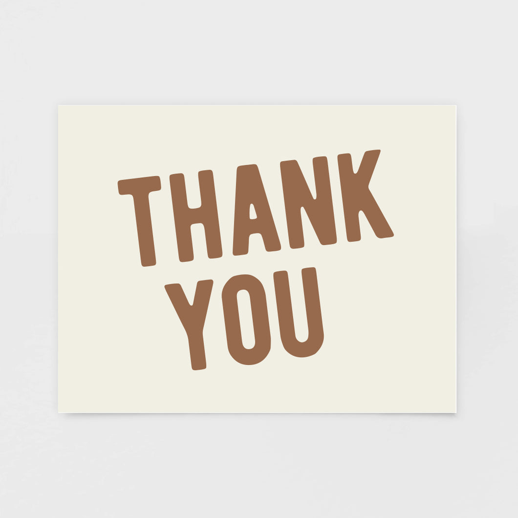 Bronze & Gray Thank You Note Card | Luxe Stationery by 7th & Palm