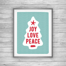Load image into Gallery viewer, Joy Love Peace Art Print