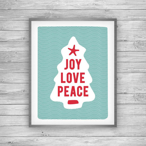 Joy Love Peace Art Print