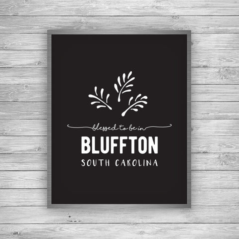 Bluffton South Carolina Palmetto Art Print