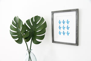 Blue Coral Reef Art Print