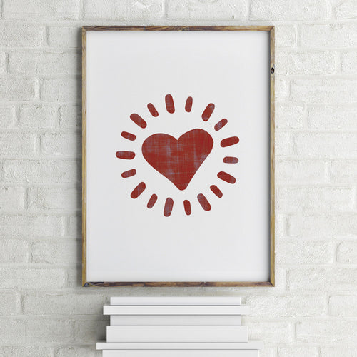 Radiant Heart Art Print by 7th & Palm