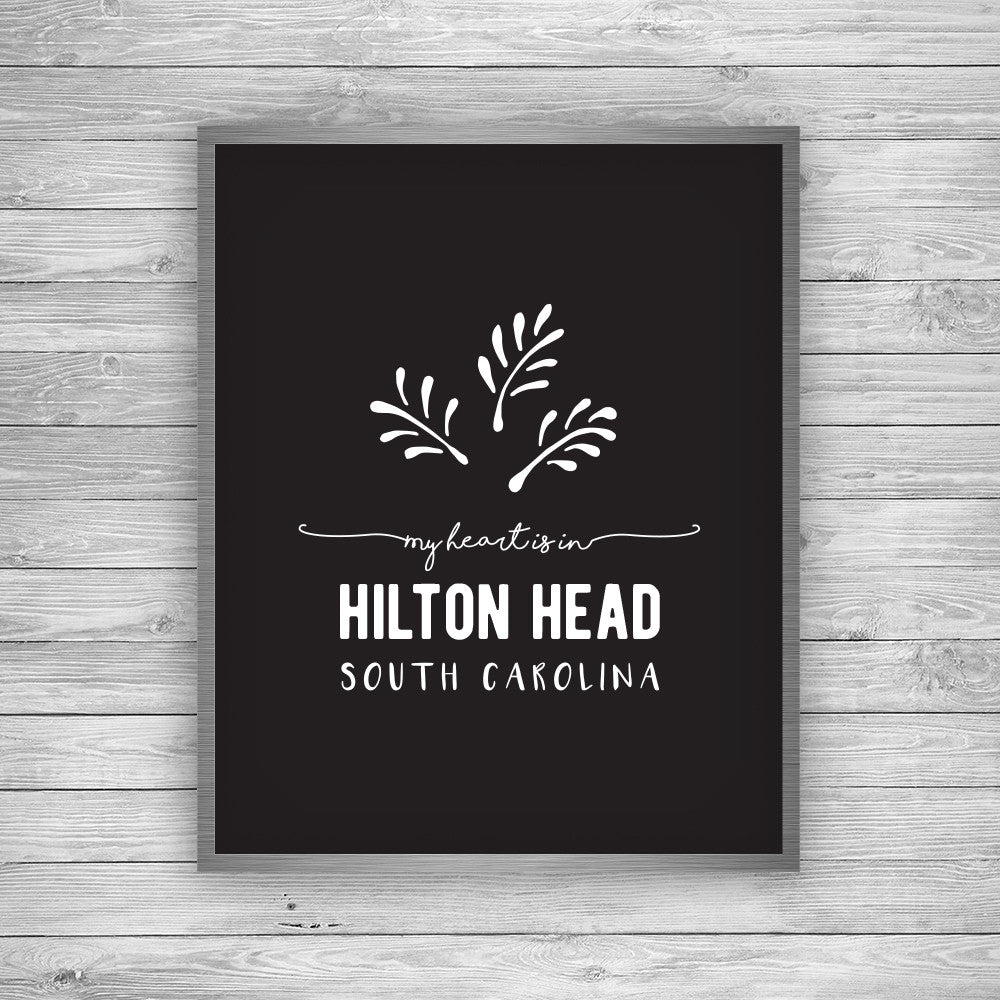 Hilton Head South Carolina Palmetto Art Print
