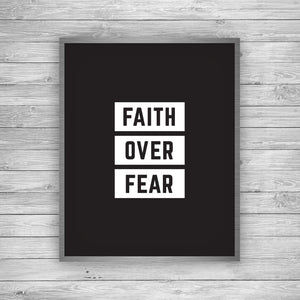 Faith Over Fear Art Print - The Journey Collection by 7th & Palm