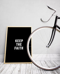 Keep The Faith Art Print - The Journey Collection by 7th & Palm