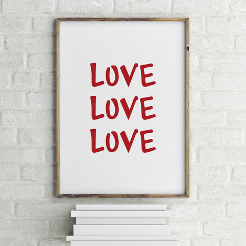 Love Art Print by 7th & Palm