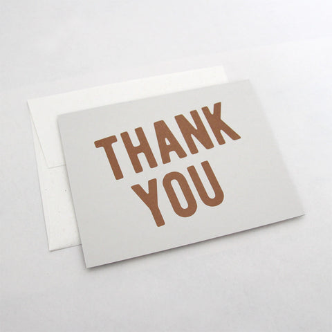 Modern Thank You Note Card & Envelope