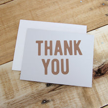 Load image into Gallery viewer, Bronze & Gray Thank You Note Card | Luxe Stationery by 7th & Palm