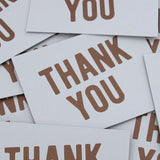 Copper & Gray Thank You Note Cards