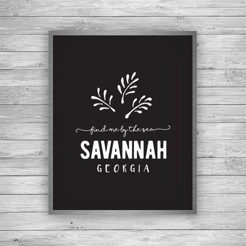 Savannah Georgia Palmetto Art Print