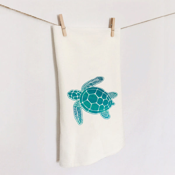 Sea Turtle Flour Sack Towel by 7th & Palm