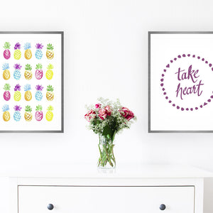 Take Heart Art Print