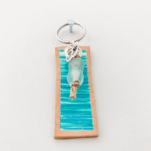 Load image into Gallery viewer, Cabana Stripe Handpainted Leather Keychain 5