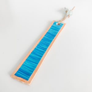 Cabana Stripe Handpainted Leather Bookmark 8