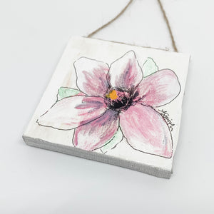 Magnolia Mini Canvas Ornament 2