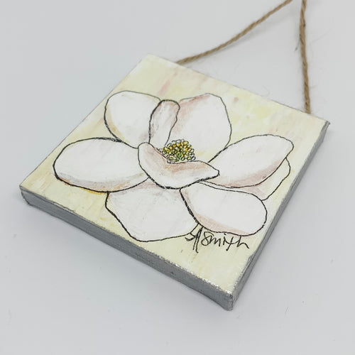 Magnolia Mini Canvas Ornament 3