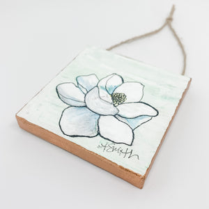 Magnolia Mini Canvas Ornament 4