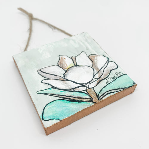 Magnolia Mini Canvas Ornament 5
