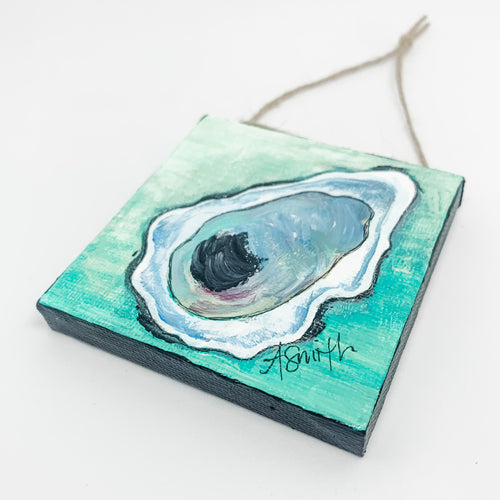 Oyster Shell Mini Canvas Ornament 3