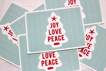 Load image into Gallery viewer, Joy Love Peace Christmas Card | Holiday Greeting Cards by 7th & Palm