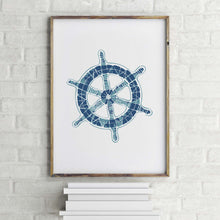 Load image into Gallery viewer, Boat Wheel Art Print