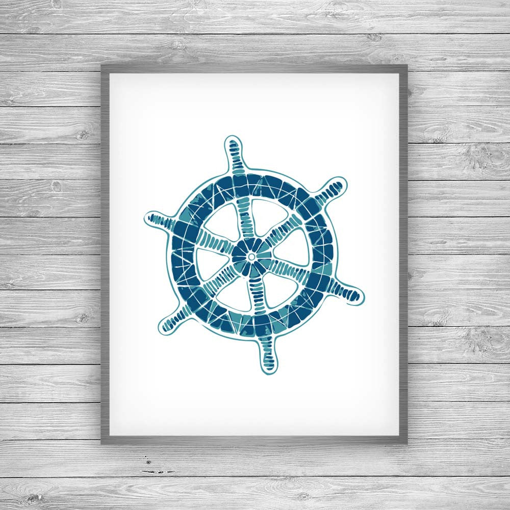 Boat Wheel Art Print