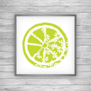Lime Green Citrus Bloom Art Print
