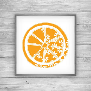 Orange Citrus Bloom Art Print
