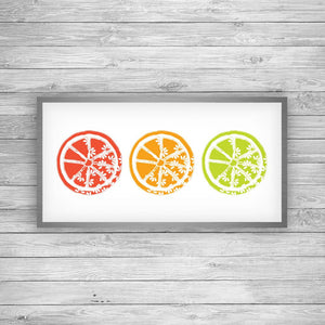 Citrus Trio Art Print