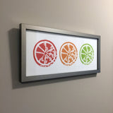 Framed Citrus Trio Art Print