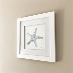 "Sea Star 8x8"" Watercolor Painting - Original Art by Andrea Smith"