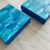 Ocean Deep I & II, Abstract Acrylic Paintings by Andrea Smith