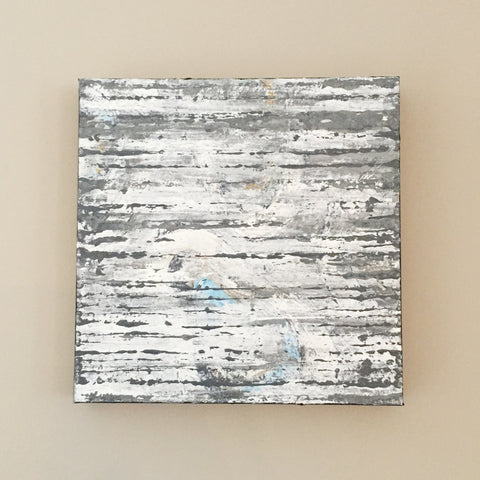 Oyster Slate 12x12 Abstract Acrylic Painting by Andrea Smith