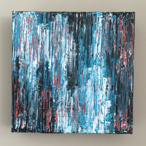 Rush 8x8 Abstract Acrylic Painting by Andrea Smith