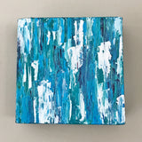 Aqua Medley I, Abstract Acrylic Painting by Andrea Smith