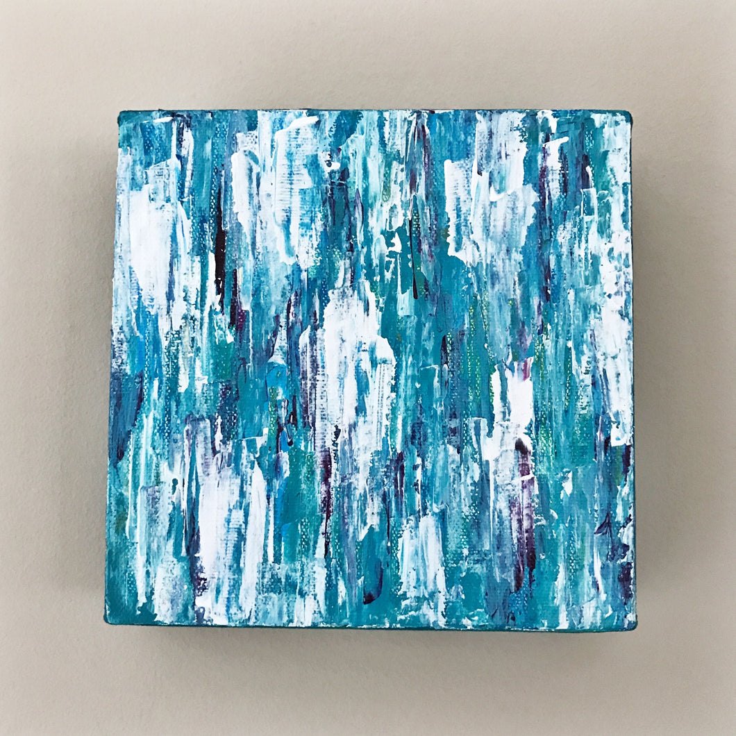 Aqua Medley II, Abstract Acrylic Painting by Andrea Smith