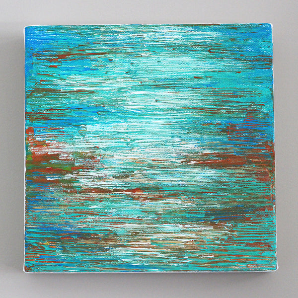 Coastal Blend II Abstract Acrylic Painting by Andrea Smith